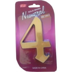 """Číslo fasádne """" 4 """" bronz 125mm"""