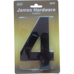 """Číslica """"4"""" fasádna 152mm čierna matná"""