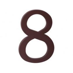 """domove číslo 175mm hnedé """"8"""""""