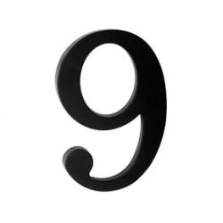 "domove číslo 180mm čierne ""9"""