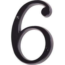"Číslo "" 6 "" čierne 100mm"