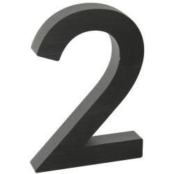 """Číslo """" 2 """" 3D čierne 100mm"""
