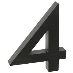 """Číslo """" 4 """" 3D čierne 100mm"""