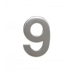 """Číslica """"9"""" 95mm nerez"""