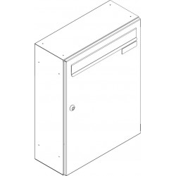 SJ 260/330 poštová schránka jednostranná RAL