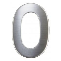 """Číslica """"0"""" 75mm nerez"""