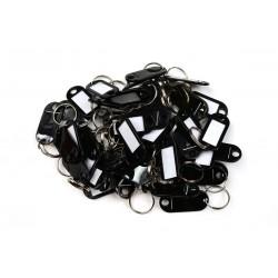 Etichetă / set plastic unilateral 50buc negru / RJ.48.CRN.50BUC