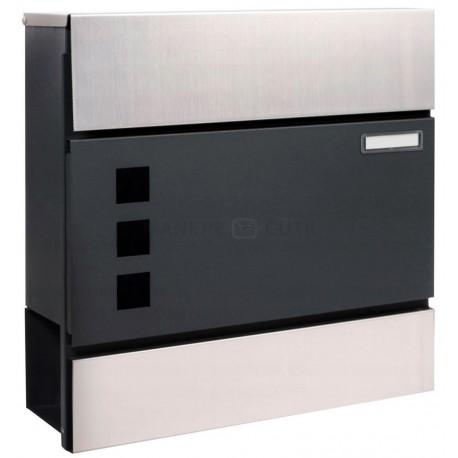 LEO cutie poștală antracit + inox