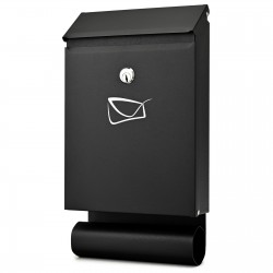 D3687 poštová schránka čierna