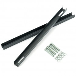 Montážny držiak na schránky 22 - 27,2cm čierny