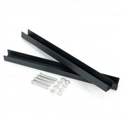 Montážny držiak na schránky 13 - 18cm čierny