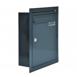 W4 poštová schránka na zamurovanie RAL7016