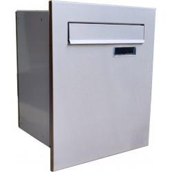 S10 poštová schránka na zamurovanie RAL9006 + nerez